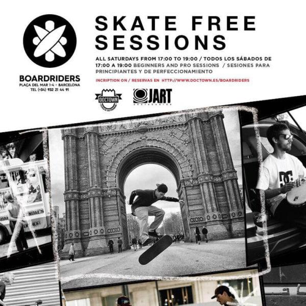 Clases de Skate Gratis en Barcelona con Boardriders Barceloneta DC Shoes